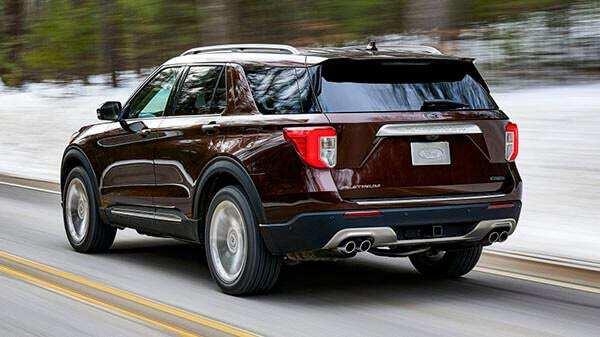 Phần đuôi của Ford Explorer 2021