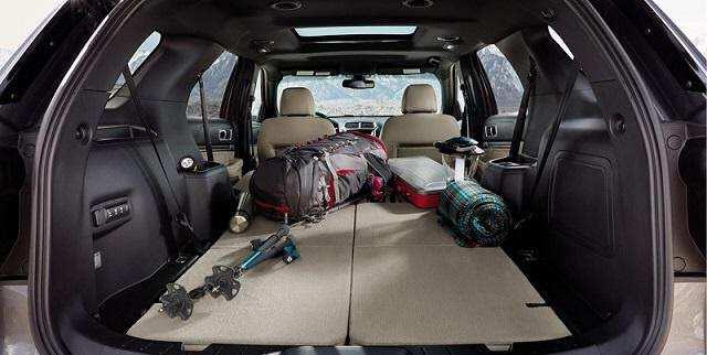 Dung tích khoang hành lý Ford Explorer 2021 lớn