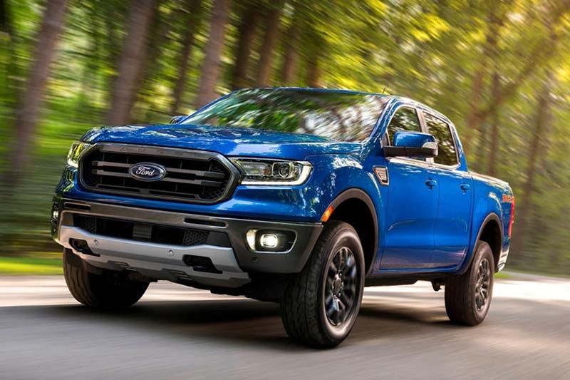Ford Ranger 2021 màu xanh