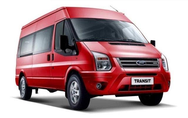 Ford Transit 2021 màu đỏ ngọc Ruby