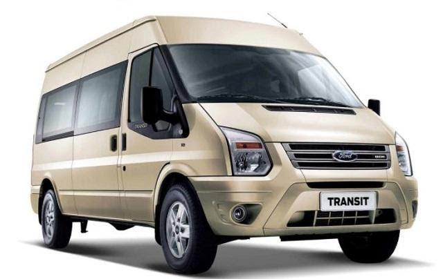 Ford Transit 2021 màu ghi vàng