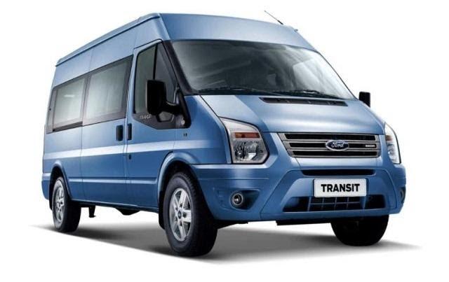 Ford Transit 2021 màu xanh dương
