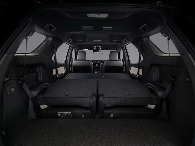Toyota Fortuner 2021 có dung tích khoang hành lý rộng rãi