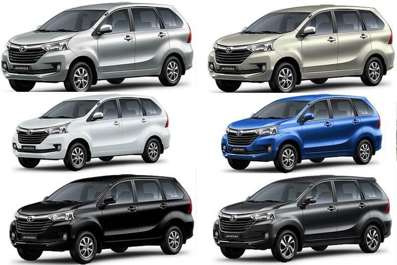 Toyota Avanza 2021 sẽ có 6 màu ngoại thất cơ bản