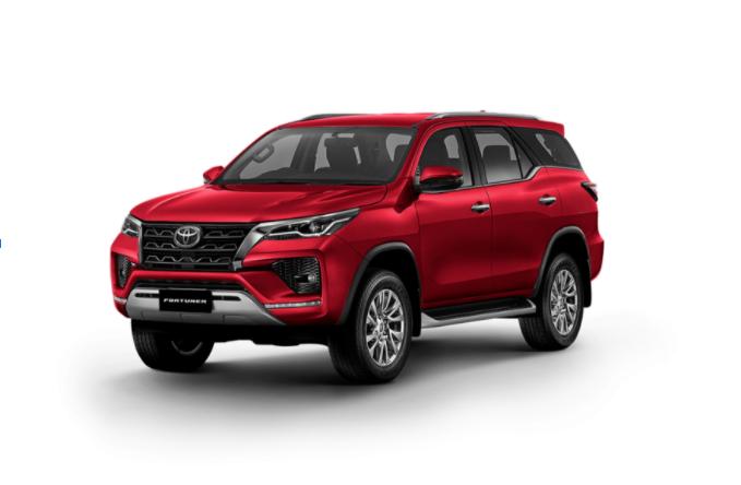 Toyota Fortuner 2021 màu Đỏ