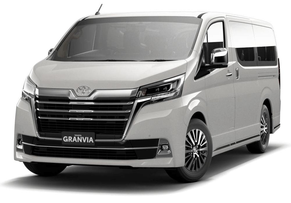 Toyota Granvia 2021 màu trắng ngọc trai