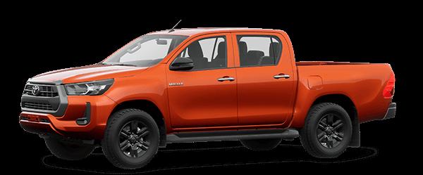 Toyota Hilux 2021 màu cam 4R8