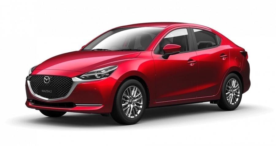 Mazda 2 2021 màu đỏ.