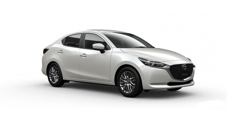 Mazda 2 2021 màu trắng.
