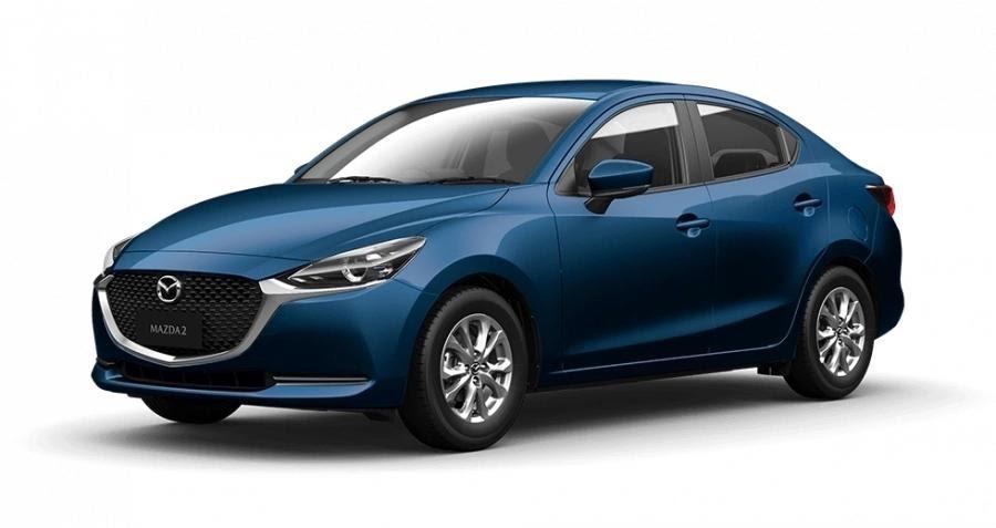 Mazda 2 2021 màu xanh.