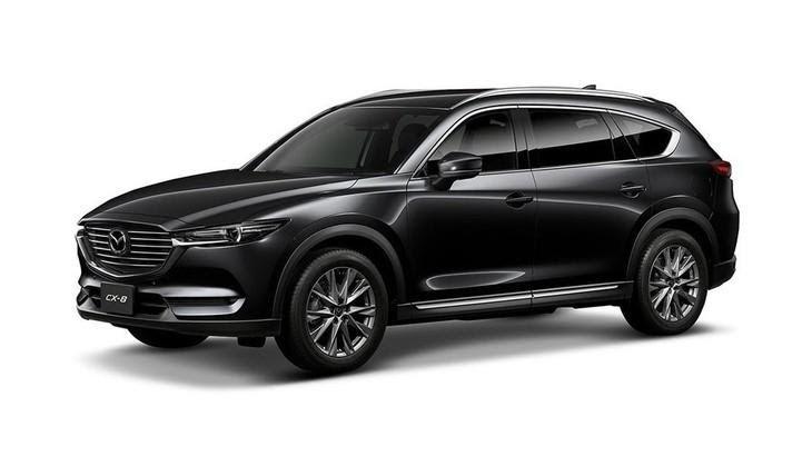 Mazda CX-8 2021 màu đen.