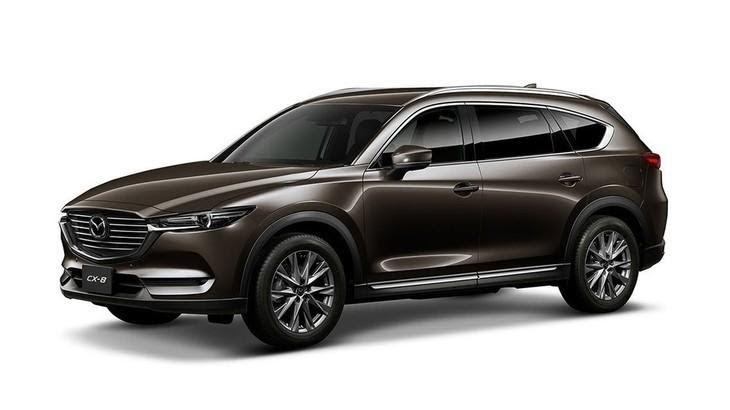 Mazda CX-8 2021 màu nâu.