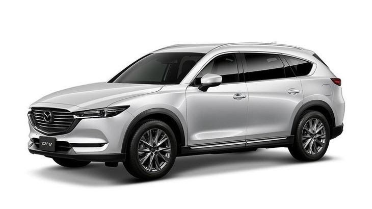 Mazda CX-8 2021 màu trắng.