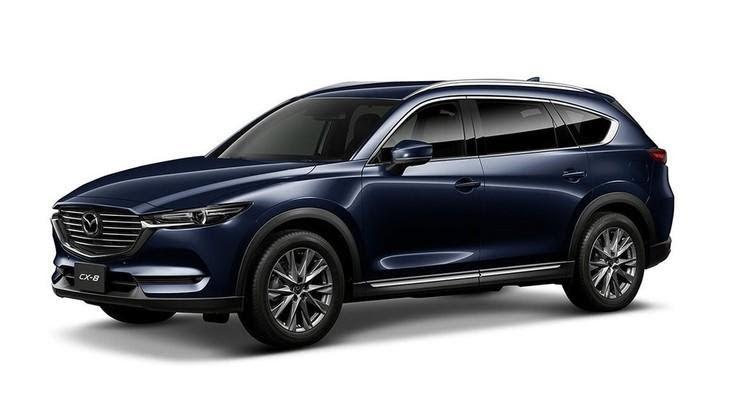 Mazda CX-8 2021 màu xanh đậm